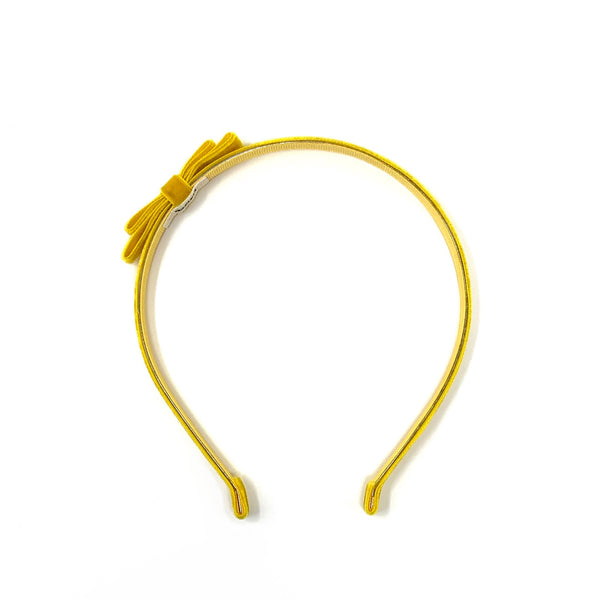 Velvet Headband, Yellow