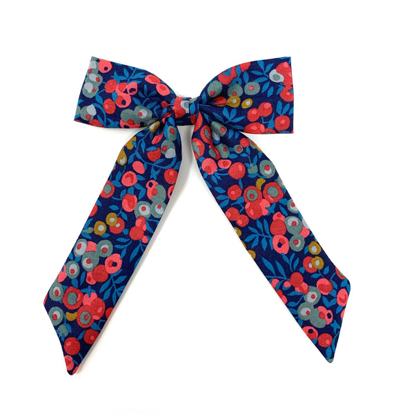 Classic Bow, Liberty Navy/Pink Floral