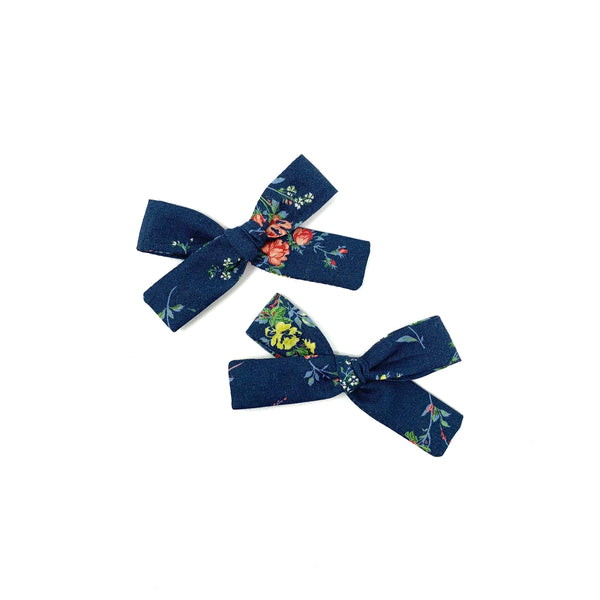 Shimmer Linen Ribbon Bow Pigtails Set, Holiday 2017