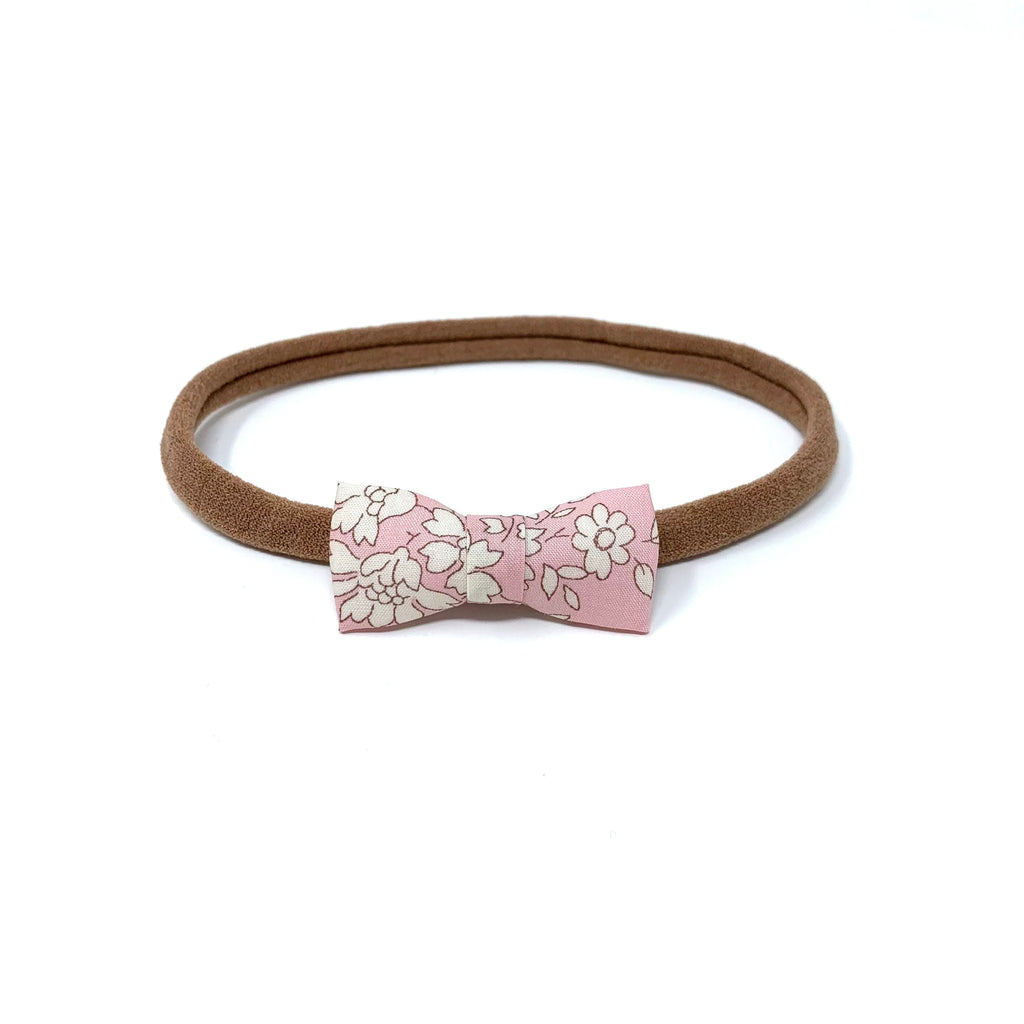 Itty Bitty Bow, Liberty Baby Pink Floral