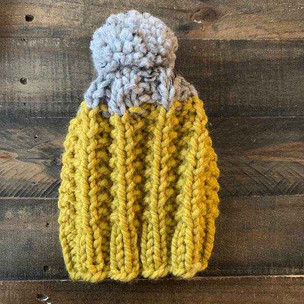 Ready to Ship! Kids M, Mustard/Marble Cameron Hat