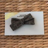SALE Black Shimmer Linen Ribbon Bow