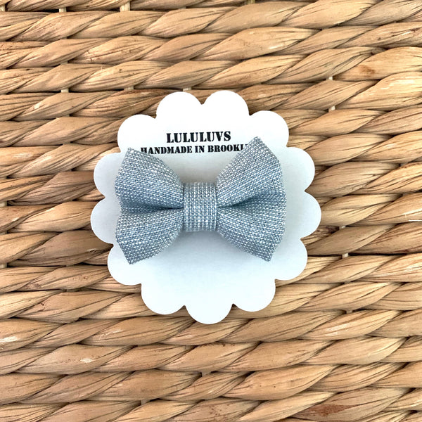 SALE Mini Bow, Blue Shimmer