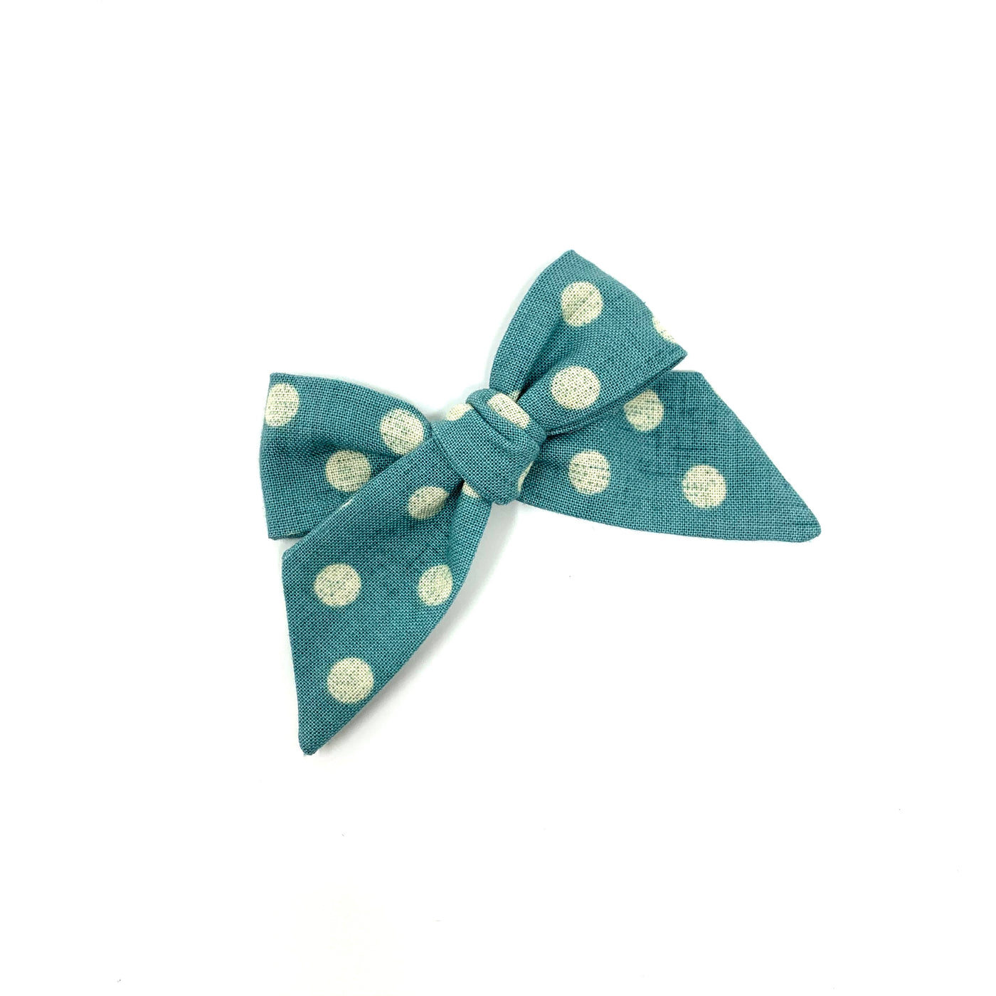 Baby Tied Bow, Turquoise Dot