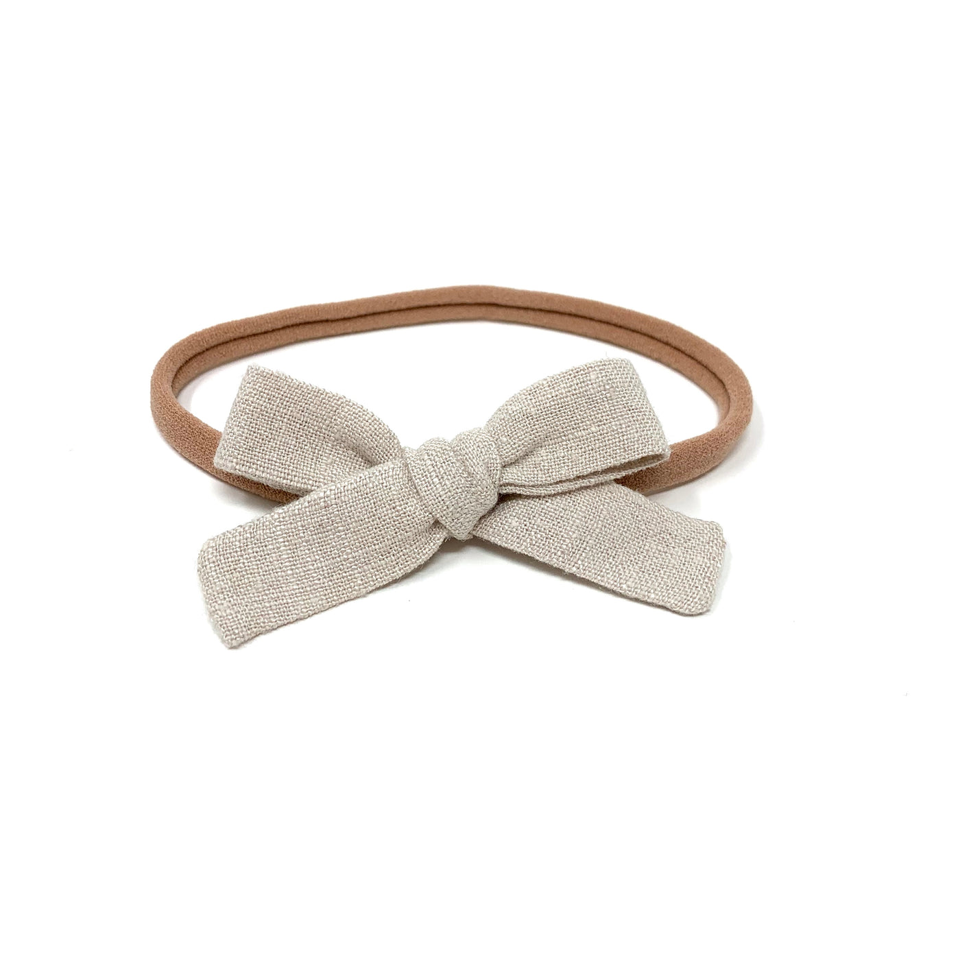 Skinny Ribbon Bow, Oyster