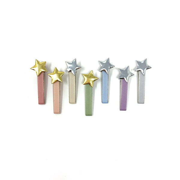 Pastels Star Clips, set of 2