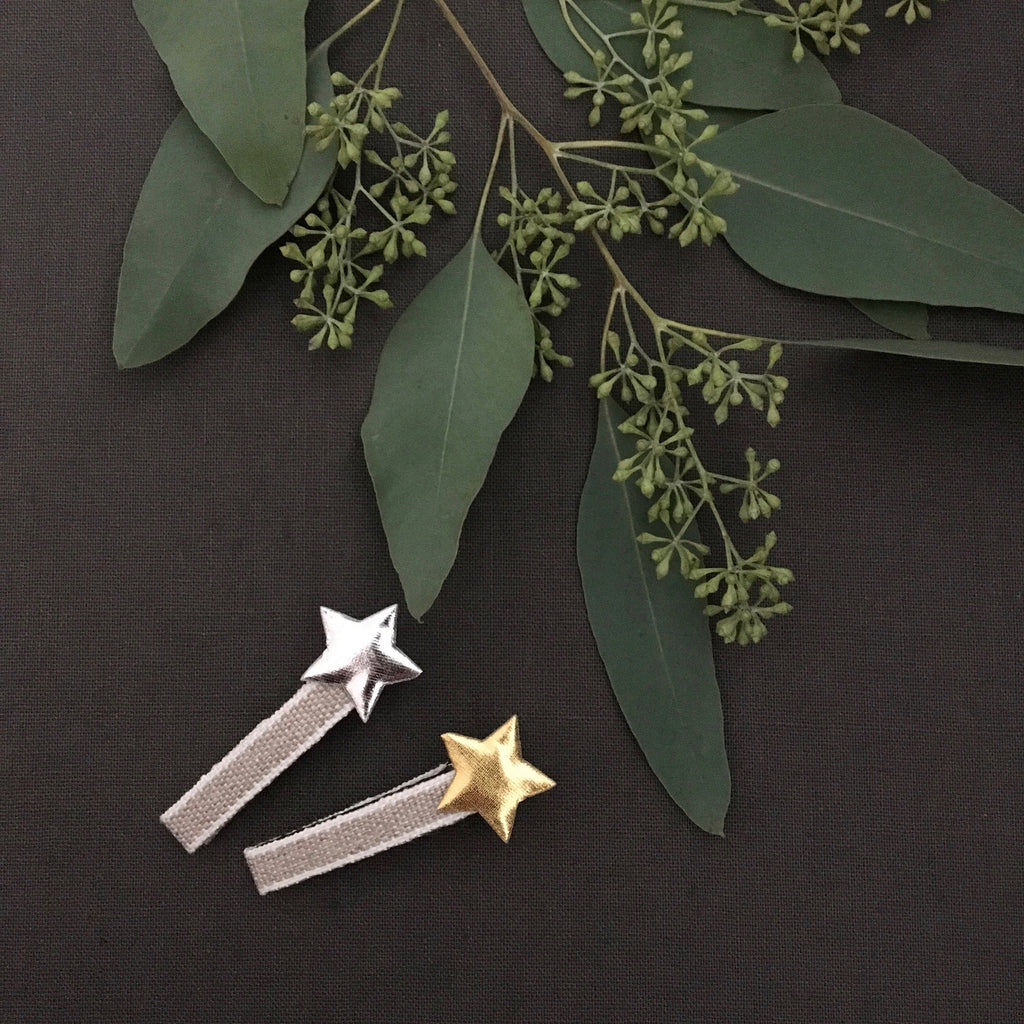 Rustic Star Clips, set of 2