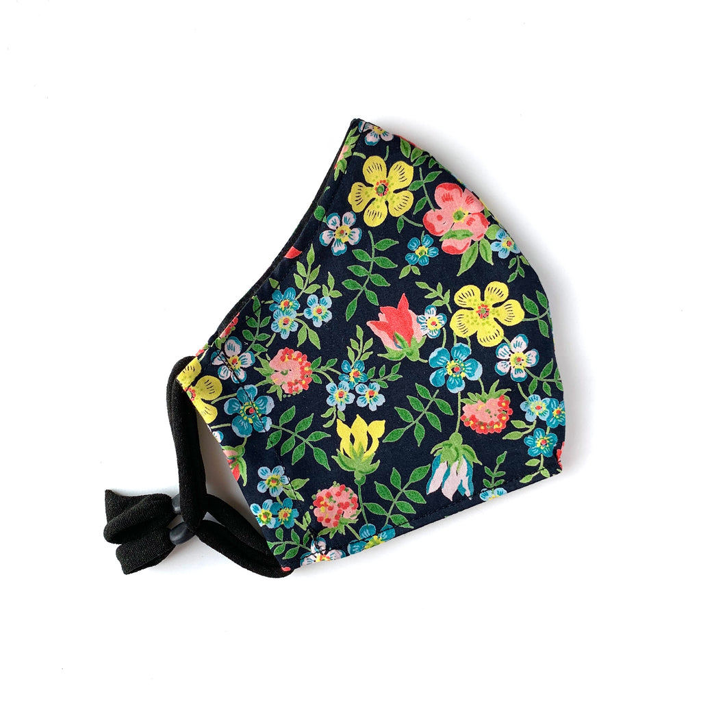 Liberty Black Floral Face Mask