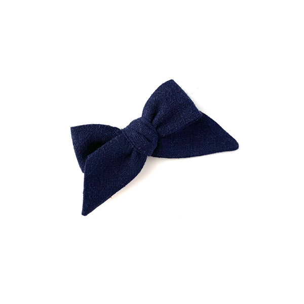 Baby Tied Bow, Navy