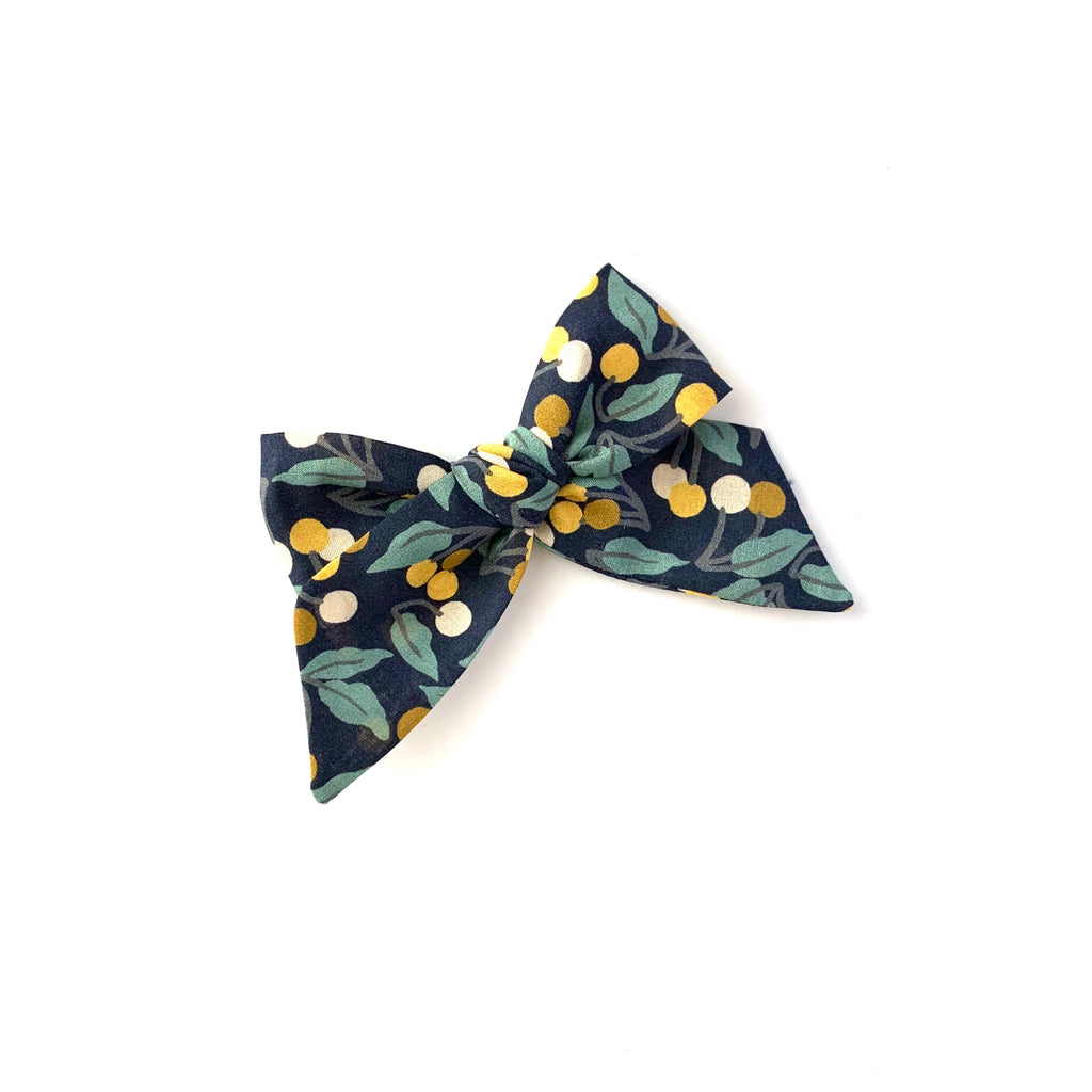 Baby Tied Bow, Liberty Winter Berries