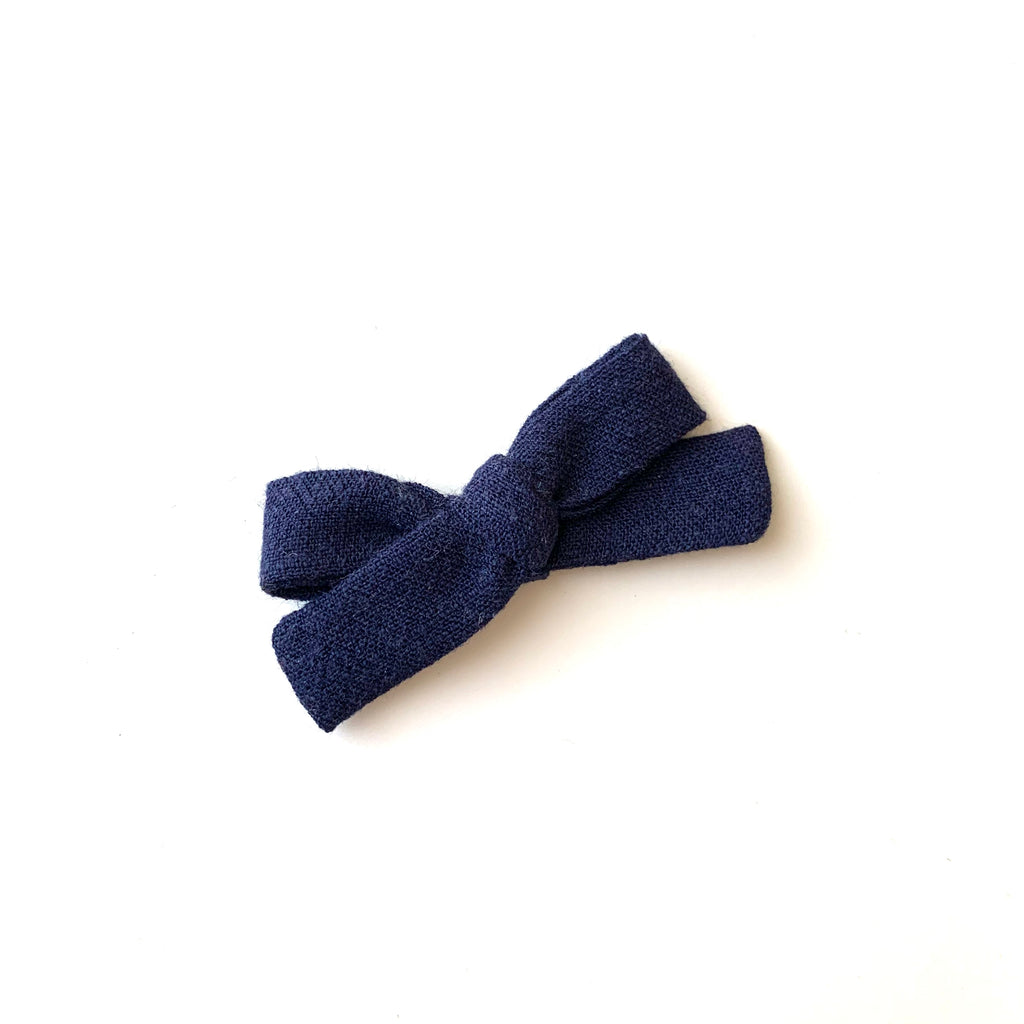 Skinny Ribbon Bow, Navy