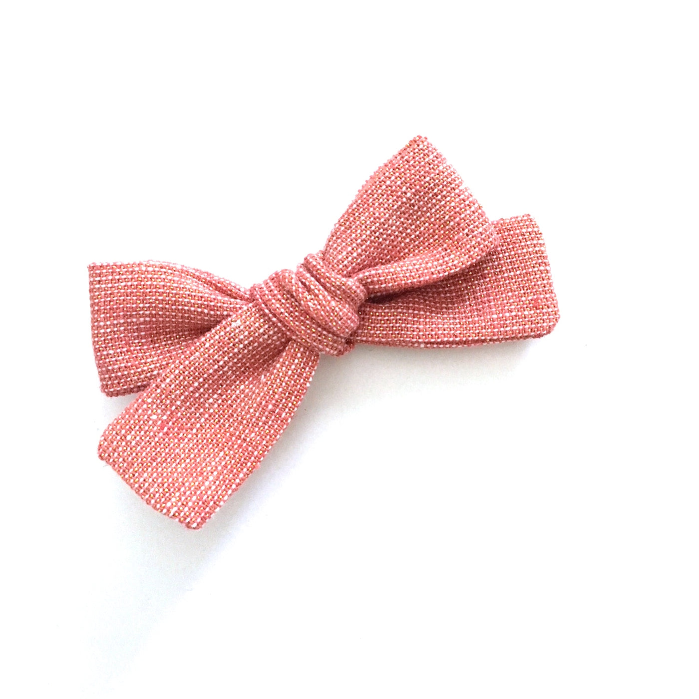 SALE Rose Shimmer Linen Ribbon Bow