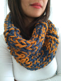 Ready to Ship! Adult Julia Hand Knit Cowl Scarf