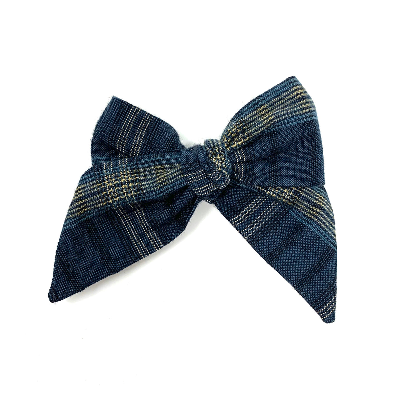 Woven Bow, Blue