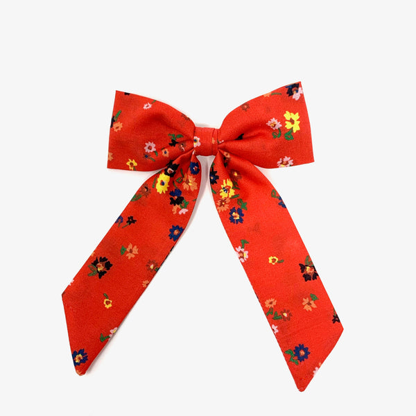 Classic Bow, Liberty Vermillion Floral