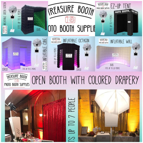 Treasure Booth Backdrop and inflatable Booths