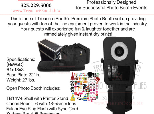 TB11V4 Open Photo Booth Business Equipment System