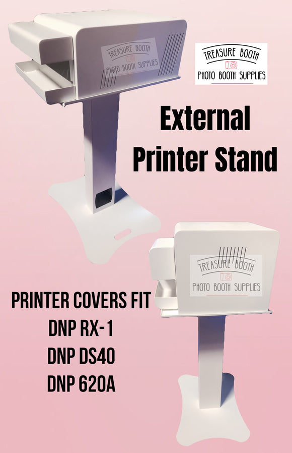 External Printer Stand with Printer Cover