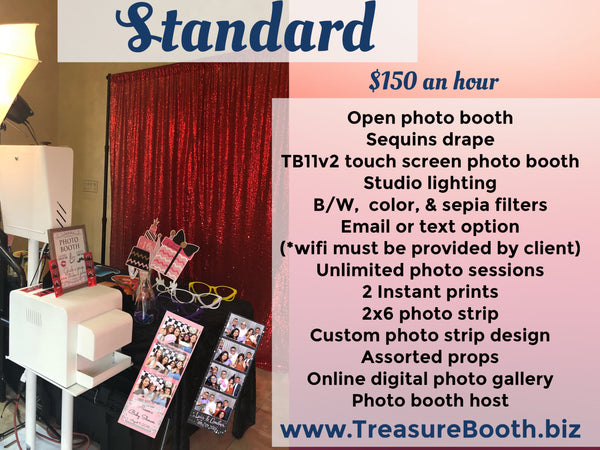 Standard Open Photo Booth Rental Service