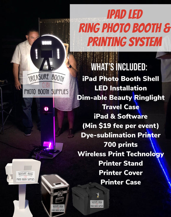 iPad Glow Photo Booth & Printing System