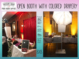 Open Booth with Colored Drapery (Hourly)