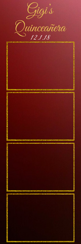 Burgandy & Gold Photo Strip