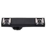 Dual Hot Shoe Flash Light Bracket Splitter For Canon T3, T5, & T6 Camera