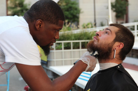 This man gives the homeless free haircuts — so someone gave him a barbershop