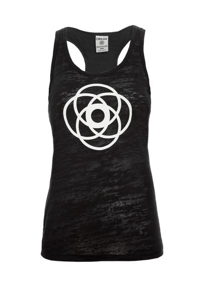 Chant Loud - Ladies ultra light yoga burnout tank (Black)