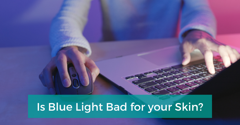 Blue light damages your skin and health