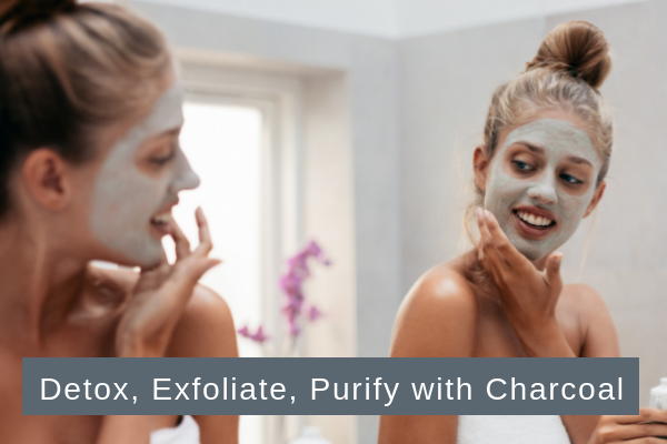 Detox, Exfoliate your skin with charcoal, skincare, beauty, beauty routine, natural skincare