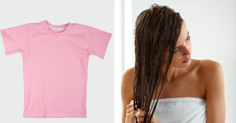 T-shirt to dry your hair