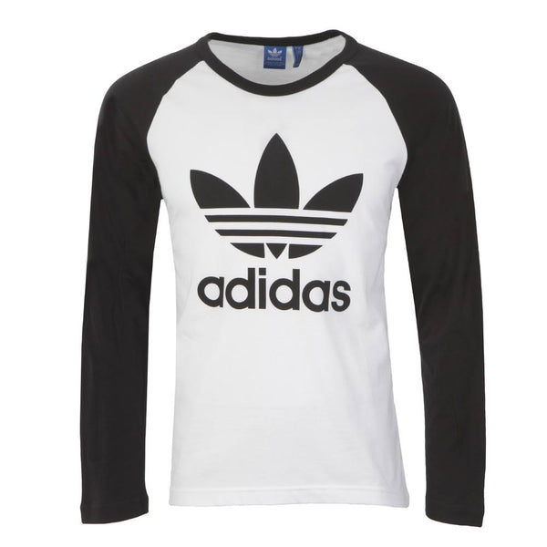 adidas originals mens trefoil logo long sleeve t shirt