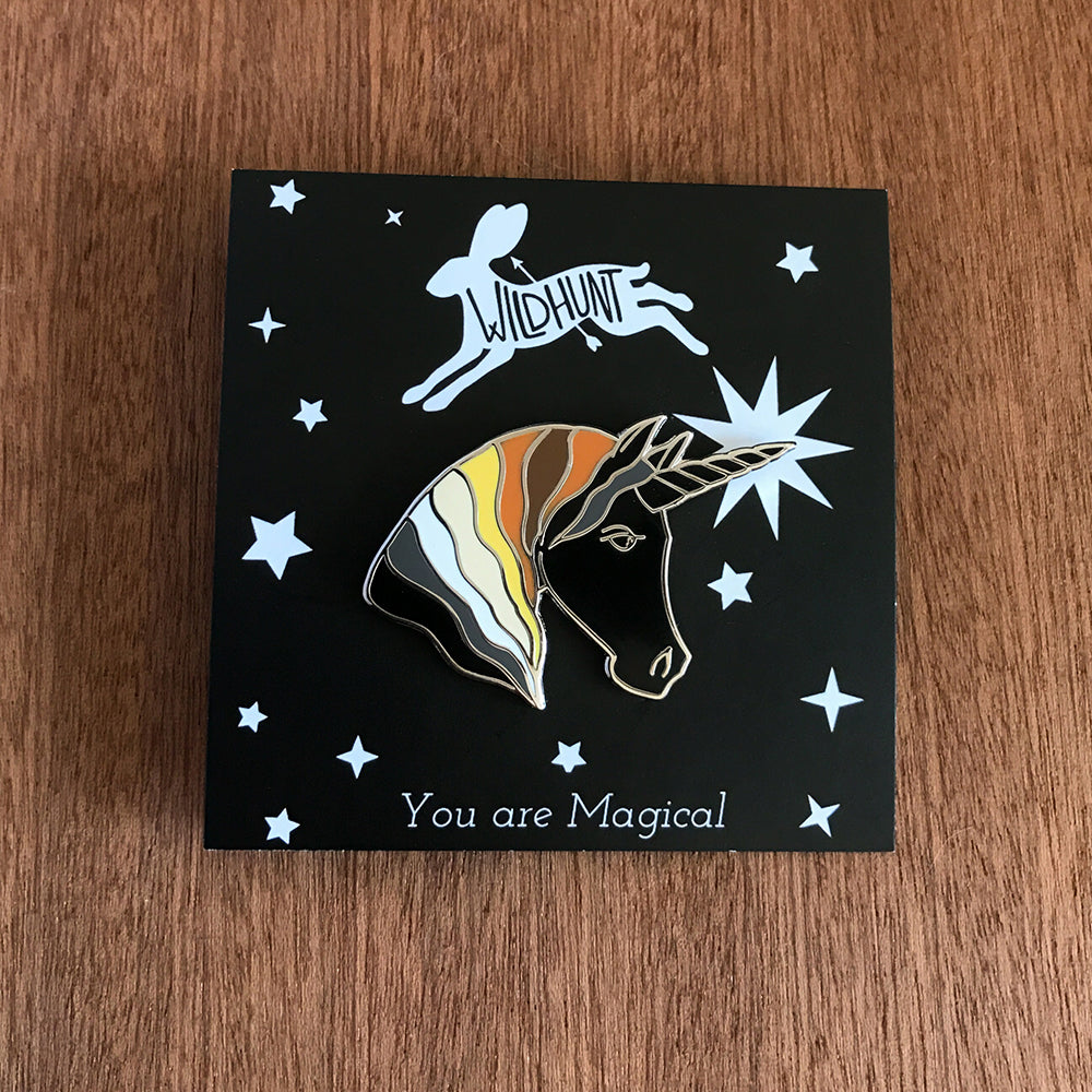 Unicorn Enamel Pin - Earth Tones