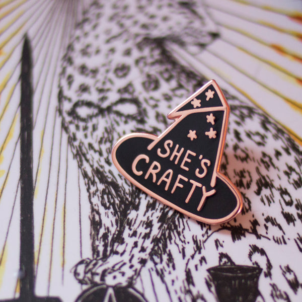 She's Crafty Enamel Lapel Pin
