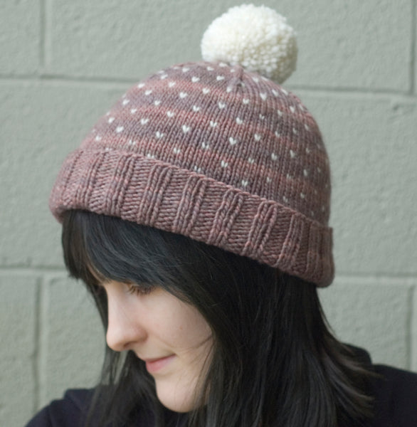 A Most Bespeckled Hat Knitting Pattern