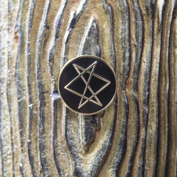 Unicursal Hexagram Enamel Pin