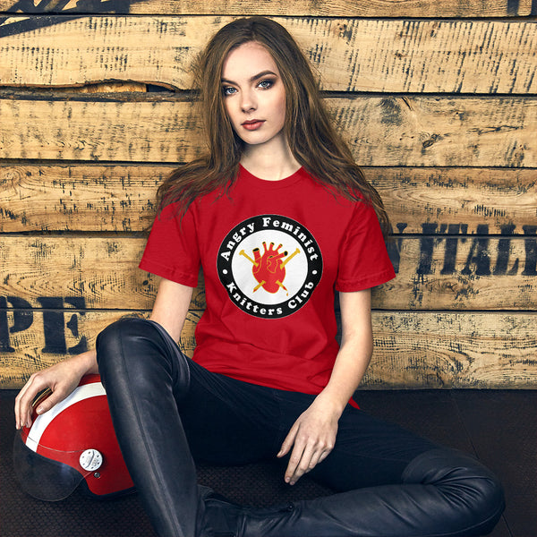 Angry Feminist Knitter's Club Unisex Tee