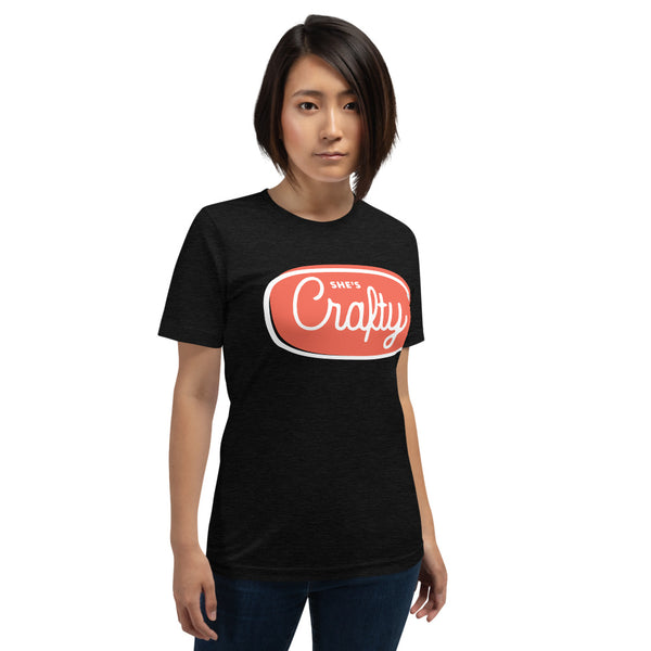 She's Crafty Unisex Tee (Red-Orange
