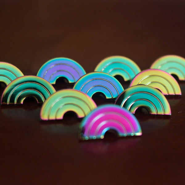 Double Rainbow Pin