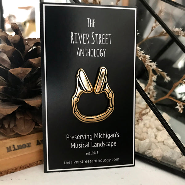 River Street Anthology Headphones Enamel Pin