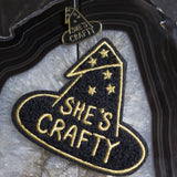 She's Crafty Chenille Patch