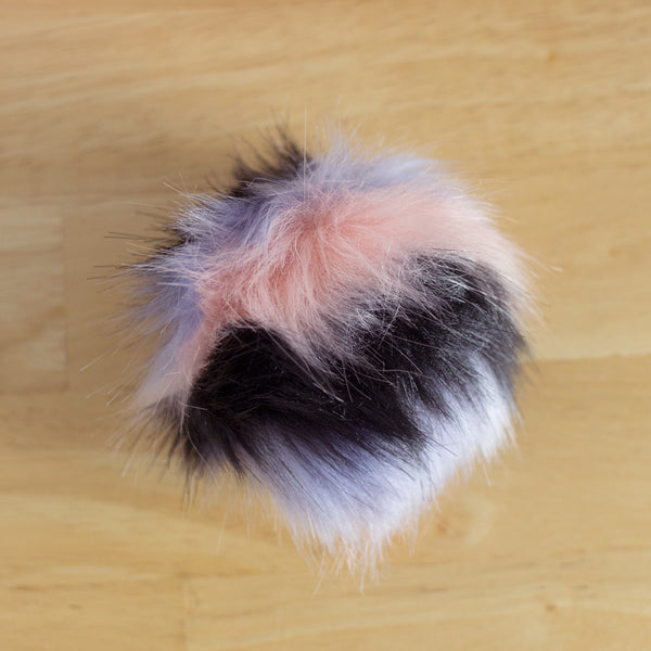 Multicolor Faux Fur Pompoms