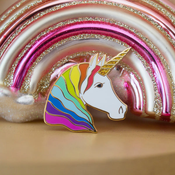 Unicorn Enamel Pin - Rainbow