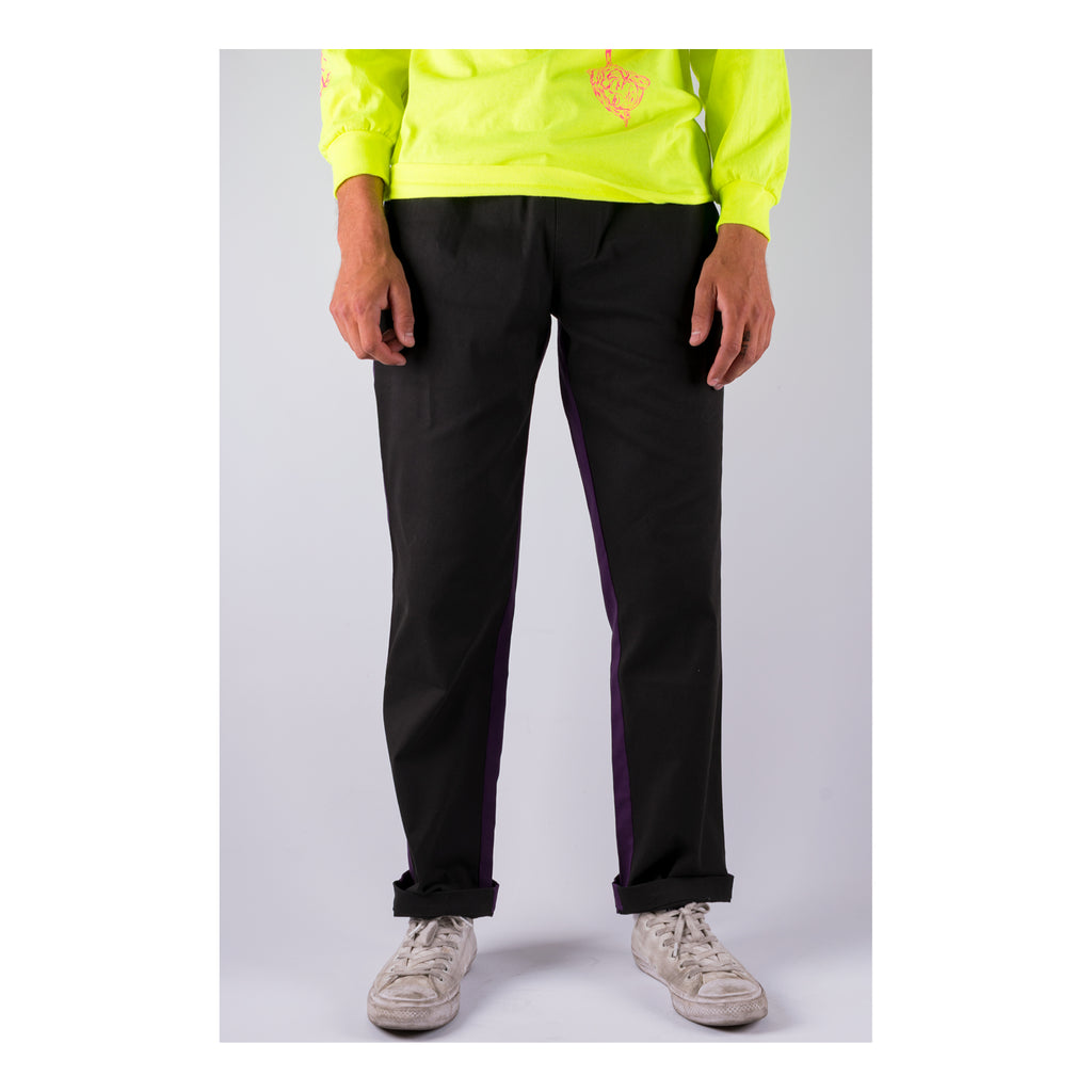 Dark Wave Split-Color Elastic Pants