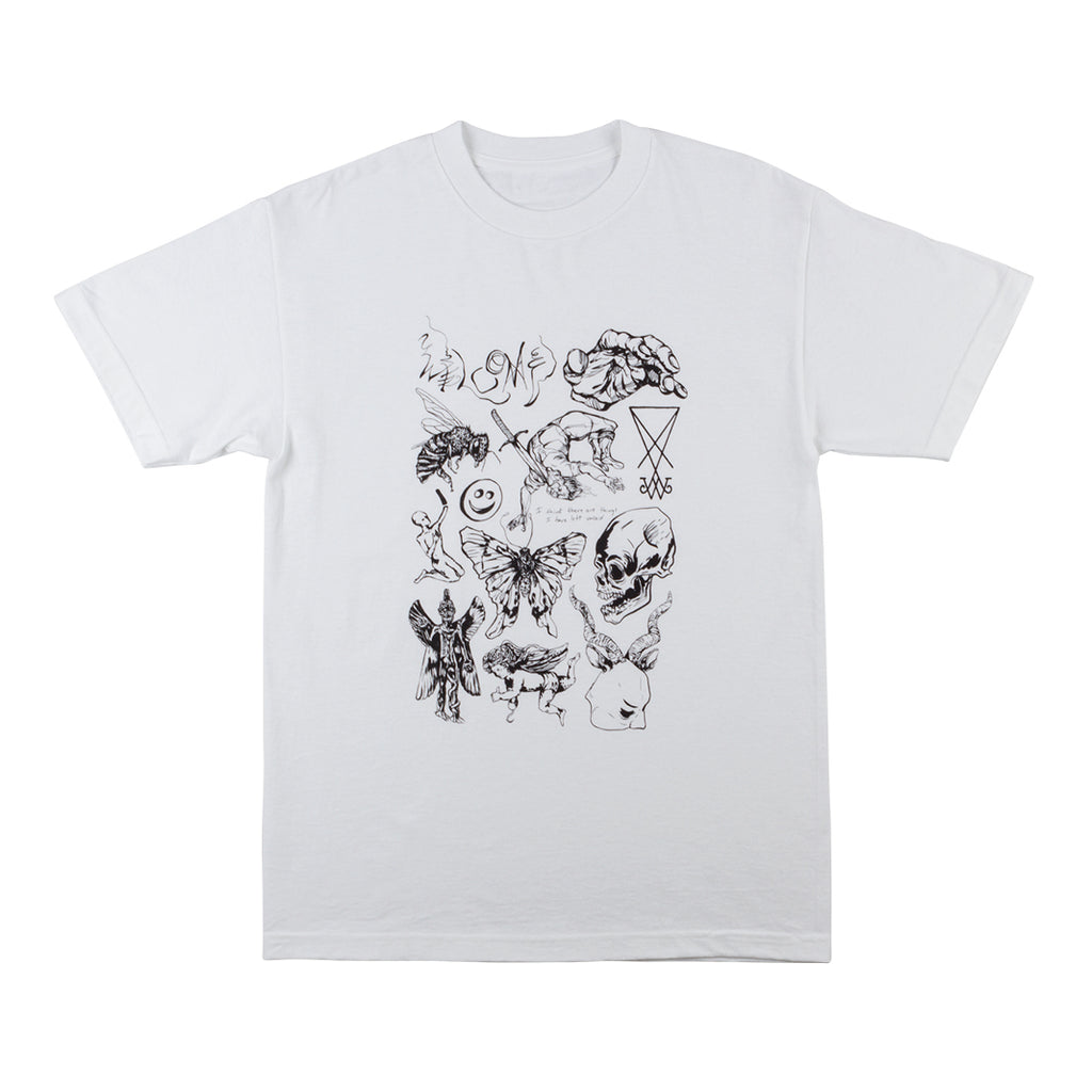 Ephemera Tee - White/Black