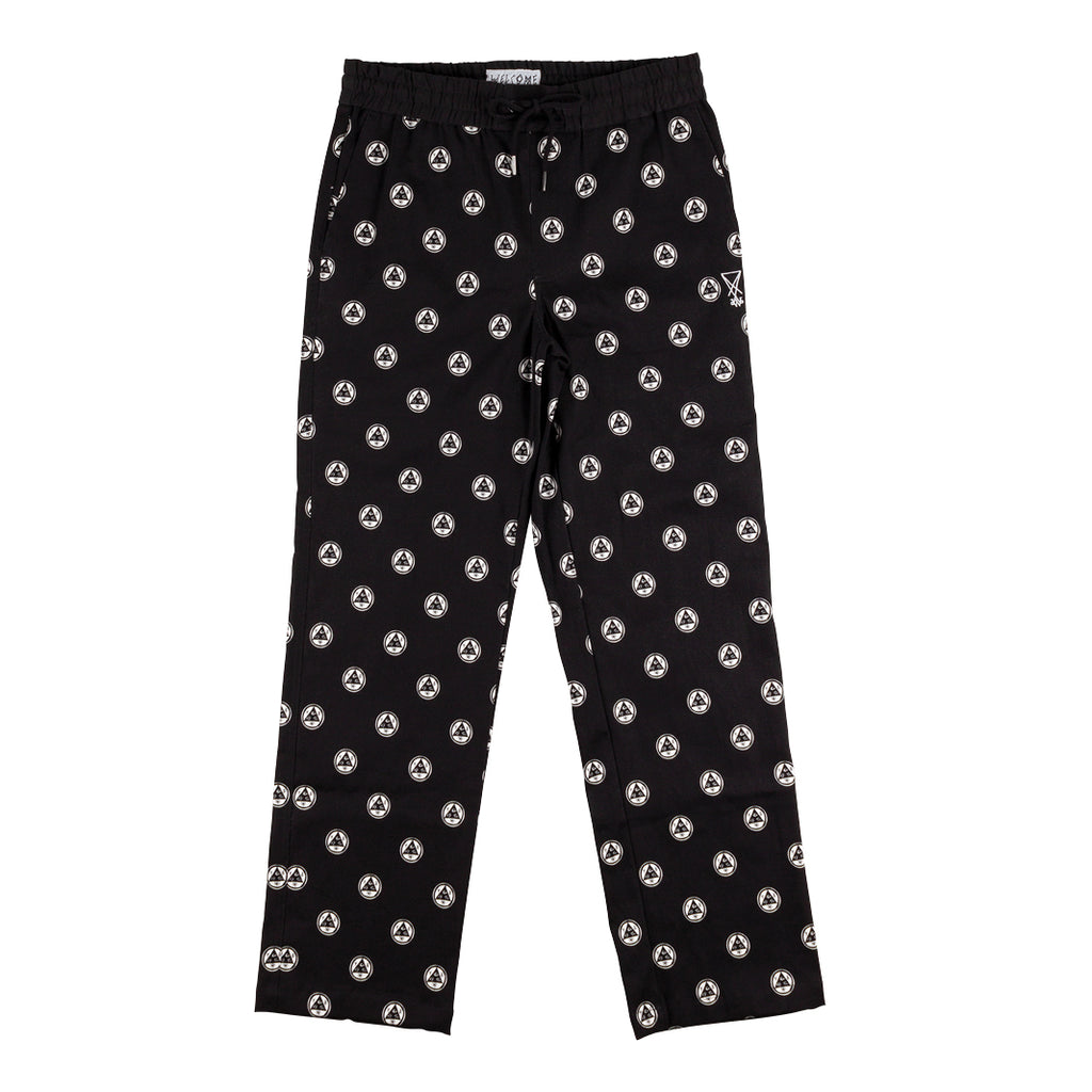 Tali-Dot All-Over Print Elastic Pants - Black/White