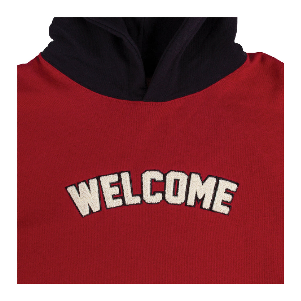 Veil 2 French Terry Pullover Hoodie - Red/Black