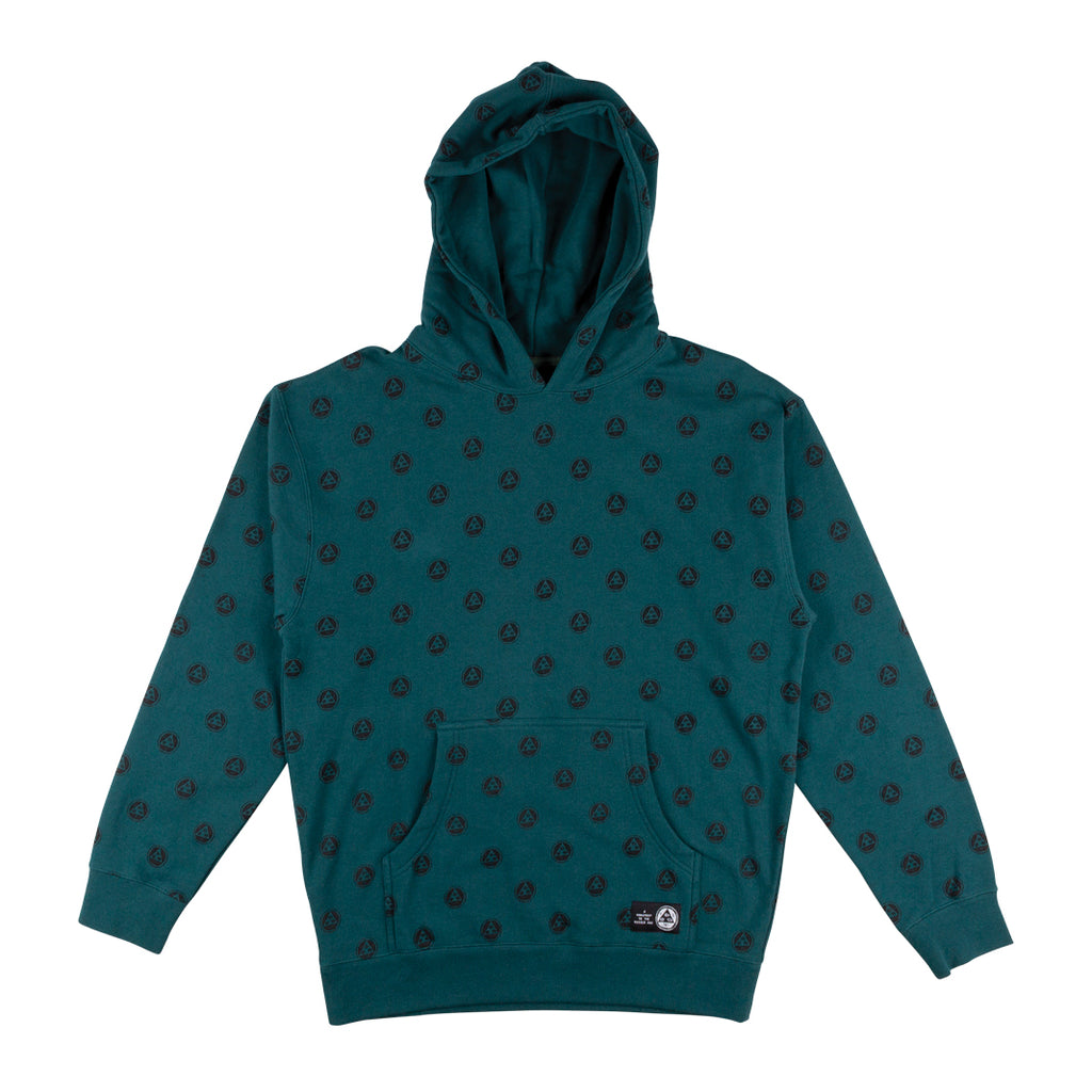 Tali-Dot Pullover Hoodie - Dusty Teal/Black