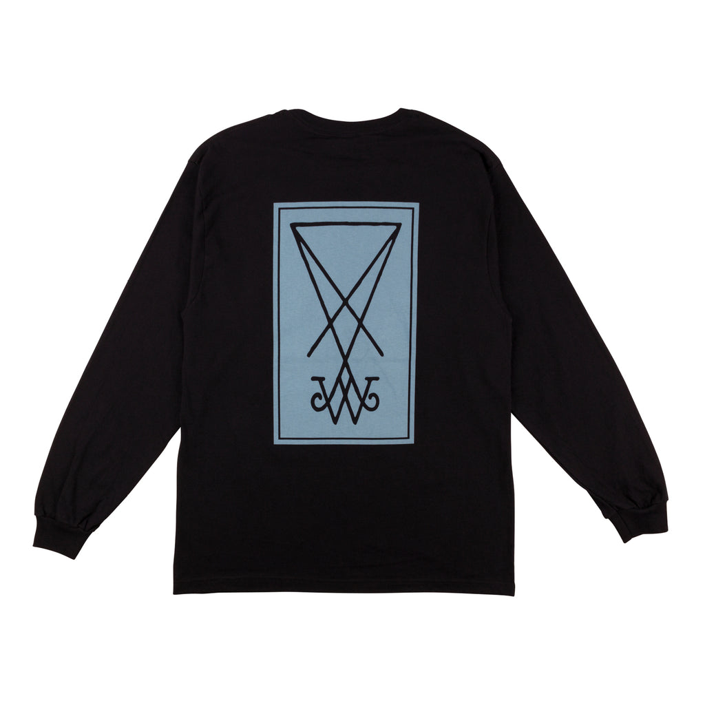 Symbol Premium Long Sleeve Tee - Black/Slate